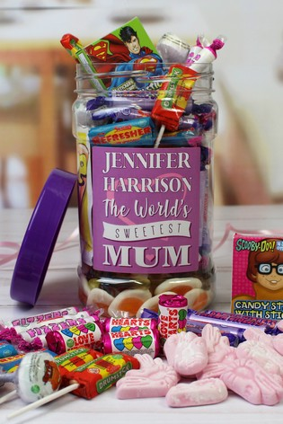 Personalised Mums Retro Sweet Jar by Great Gifts