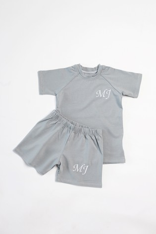 Personalised Lava Shorts & T-Shirt Set by Forever Sewing