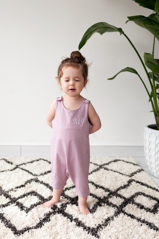 Personalised Lilac Short Leg Romper Suit by Forever Sewing