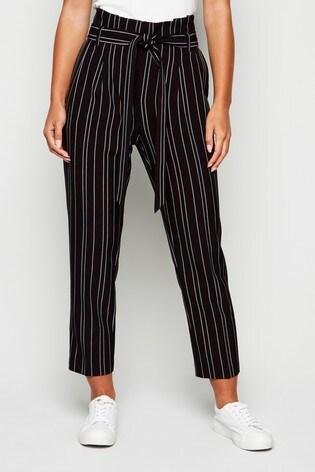 New Look Petite Stripe Miller Tie Waist Trouser