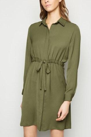 New Look S-String Waist Shirt Dress