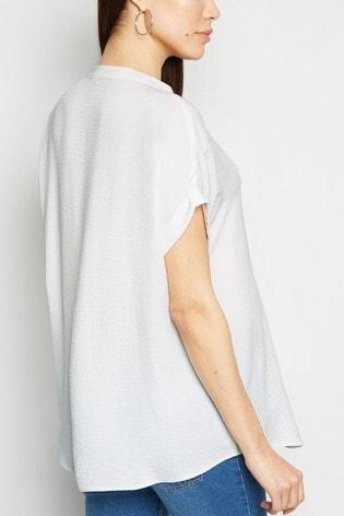 New Look Maternity Overhead Button Short Sleeve Shirt