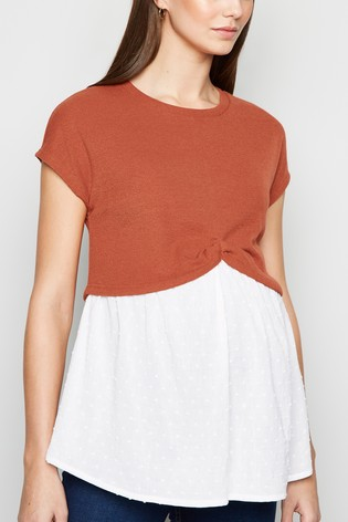 New Look Maternity 2-in-1 Short Sleeve Top