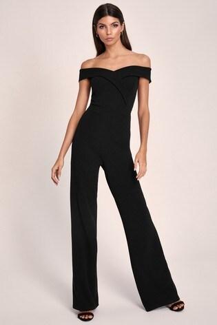 Lipsy Black Bardot Jumpsuit