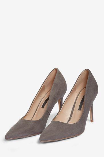 Dorothy Perkins Grey Dele Court Shoe