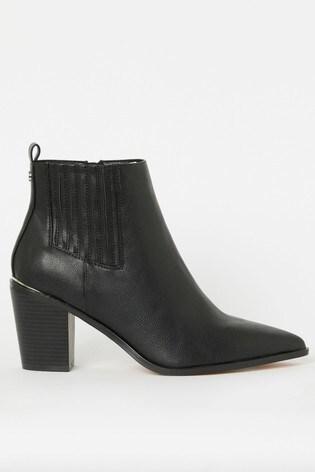 Lipsy Black Western Boot