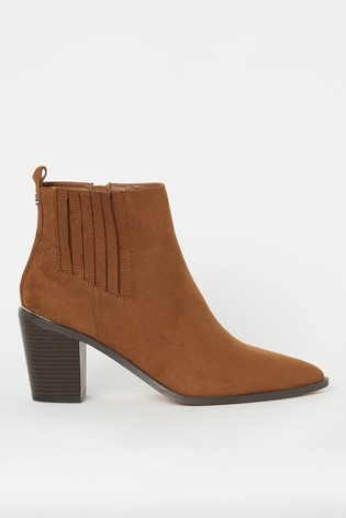 Lipsy Brown Western Boot