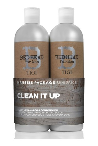 Tigi Bed Head for Men Clean Up Tween Duo Daily Shampoo & Conditioner for Normal Hair 2x750 ml