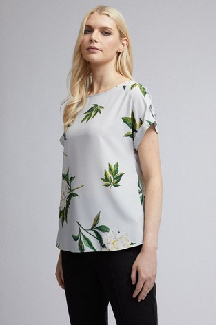 Dorothy Perkins Floral Woven Tee