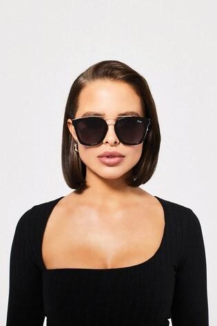Quay Australia Black Sweet Dreams Square Sunglasses