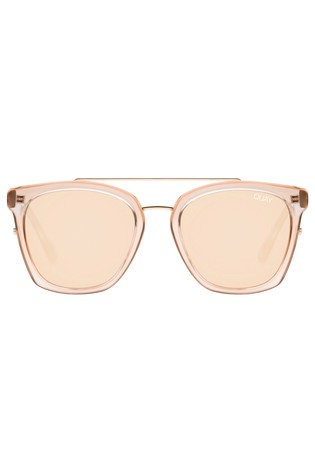 Quay Australia Gold Sweet Dreams Square Sunglasses