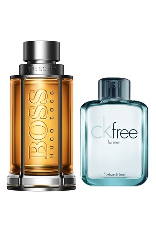 BOSS The Scent For Him Eau de Toilette 200ml and CK Free 100ml Gift