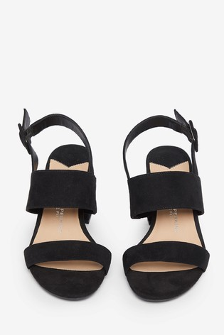 Dorothy Perkins Black Wide Fit Two Strap Mule