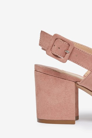 Dorothy Perkins Pink Wide Fit Two Strap Mule