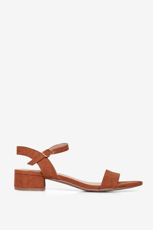 Dorothy Perkins Brown Wide Fit Sprightly Sandal