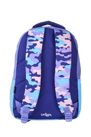 Smiggle Purple Block Backpack