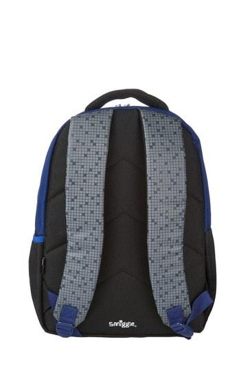 Smiggle Blue Block Backpack