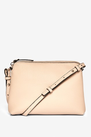 Dorothy Perkins Nude Zip-Top Crossbody Bag