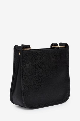 Dorothy Perkins Black Zip Front Tassel Crossbody Bag
