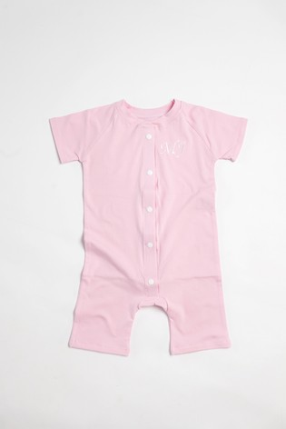 Personalised Pink Shortie All in One by Forever Sewing