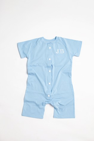 Personalised Sky Blue Shortie All in One by Forever Sewing