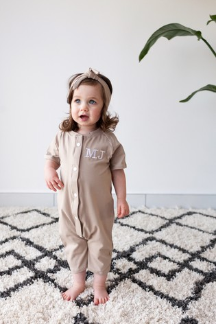 Personalised Camel Shortie All in One by Forever Sewing