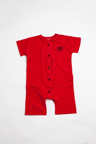 Personalised Red Shortie All in One by Forever Sewing