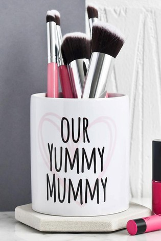 Personalised Yummy Mummy Brush Pot by Gift Collective