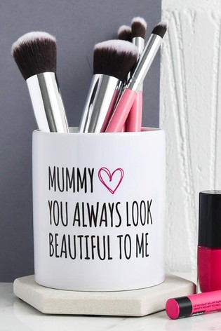 Personalised Beautiful Mummy Brush Pot by Gift Collective