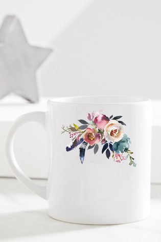 Personalised Floral Mum Mug by Gift Collective