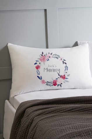 Personalised Mummy Pillowcase by Gift Collective