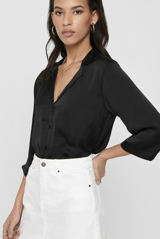 JDY Button Through 3/4th Sleeve Blouse