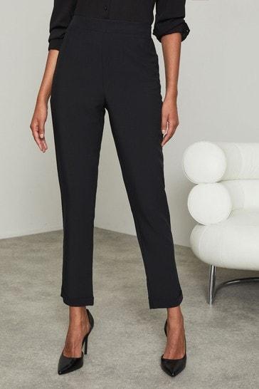 Lipsy Black Regular Tapered Trousers