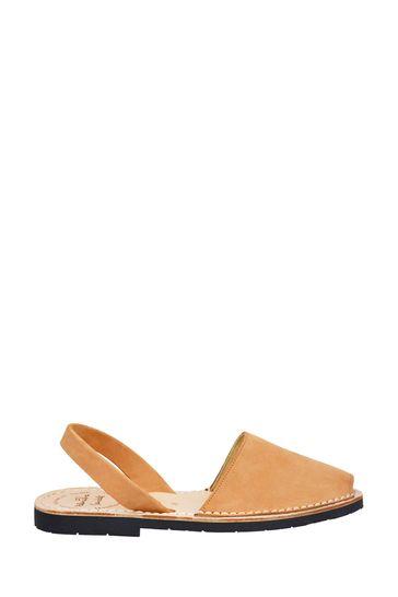 Palmaira Sandals Brown Flat Sandals