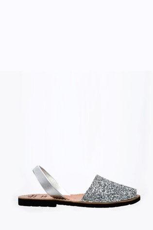 Palmaira Sandals Silver Flat Sandals