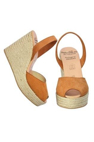 Palmaira Sandals Brown High Wedge Espadrille Sandals