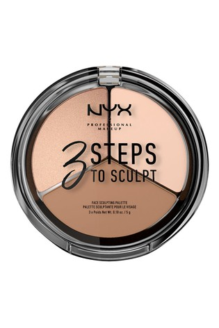 NYX Professional Make Up 3 Steps To Sculpt Face Sculpting Palette