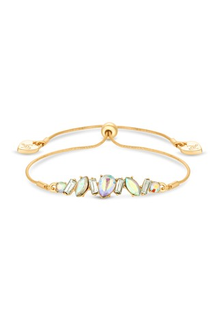 Lipsy Gold Plated Crystal Mixed Stone Toggle Bracelet
