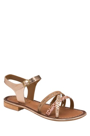 Ravel Birch Leather Flat Sandals