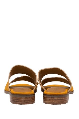 Ravel Yellow Suede Mule Sandals