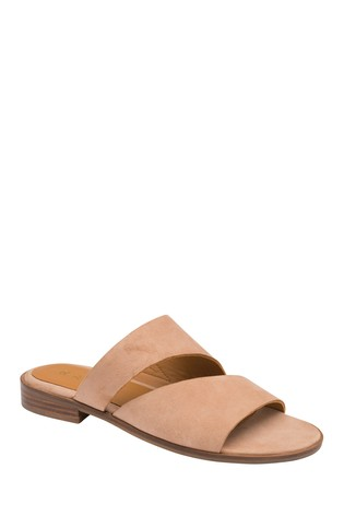Ravel Pink Suede Mule Sandals