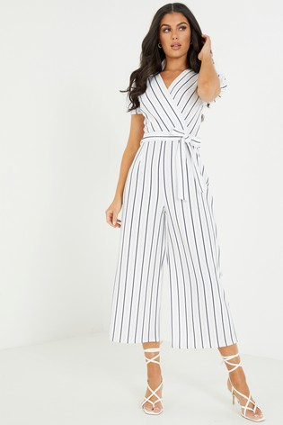 Quiz Striped Culotte Jumpsuit