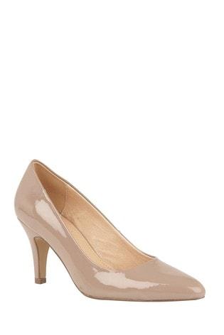 Lotus Dark Nude Patent Court Shoes