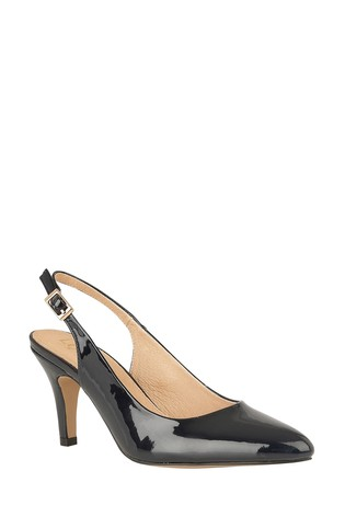 Lotus Black Slingback Shoes
