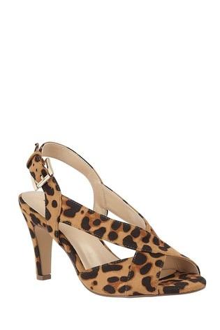 Lotus Footwear Animal Print Sling Back Shoes