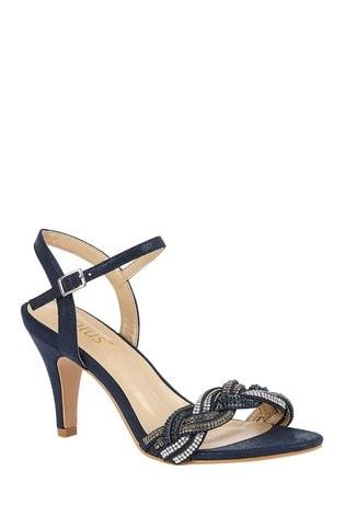 Lotus Footwear Navy Lotus Footwear Diamante Sandals