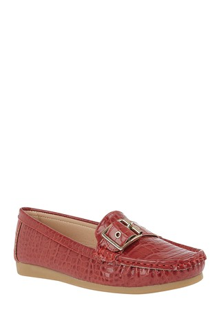 Lotus Red Slip-On Loafers