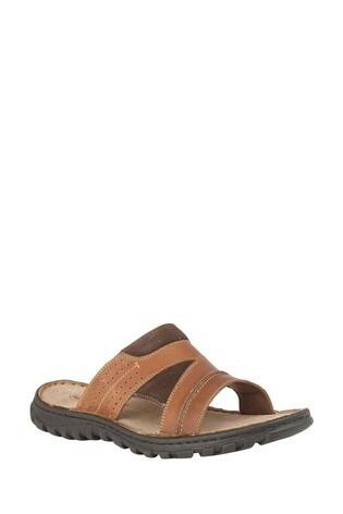 Lotus Tan Mule Sandals