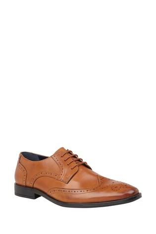 Lotus Brown Leather Lace Up Shoes