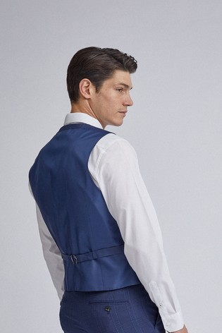 Burton Highlight Check Skinny Fit Suit Waistcoat